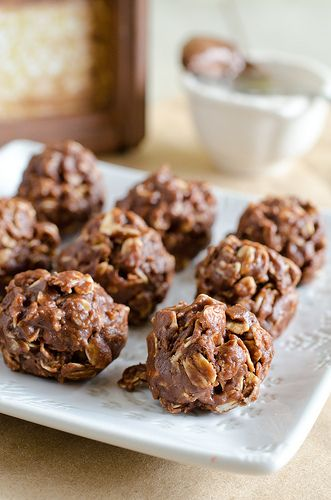 Nutella No-Bake Cookies by Seeded at the Table, via Flickr