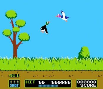 Nintendo's Duck Hunt Game- haha my hubby and I were just talking about how much we liked this game!:)
