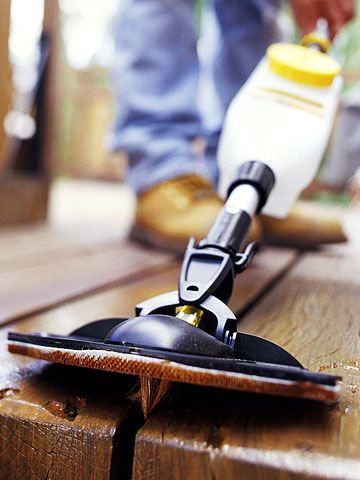 Refinishing your deck every year or two reduces cracks and splinters, keeping the surface of the wood attractive and friendly to tender feet.