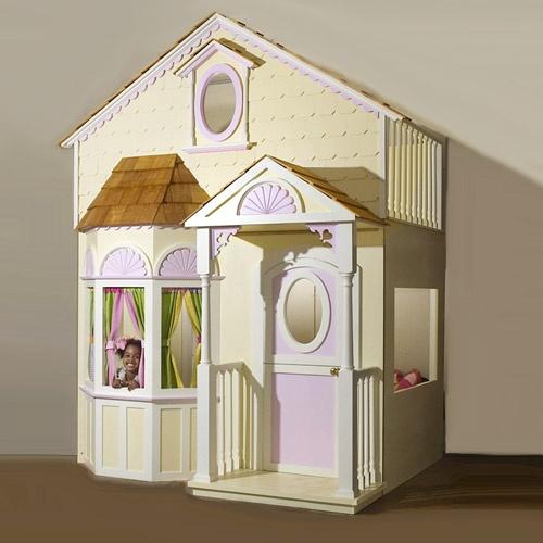 Victorian Playhouse Loft Bed from PoshTots: Victorian Playhouse, Kids Room, Playhouse Loft, Girls Room, Baby, Loft Beds, Princess Room, Sweet Dream