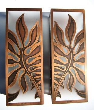 Monstera Sconces tropical wall sconces