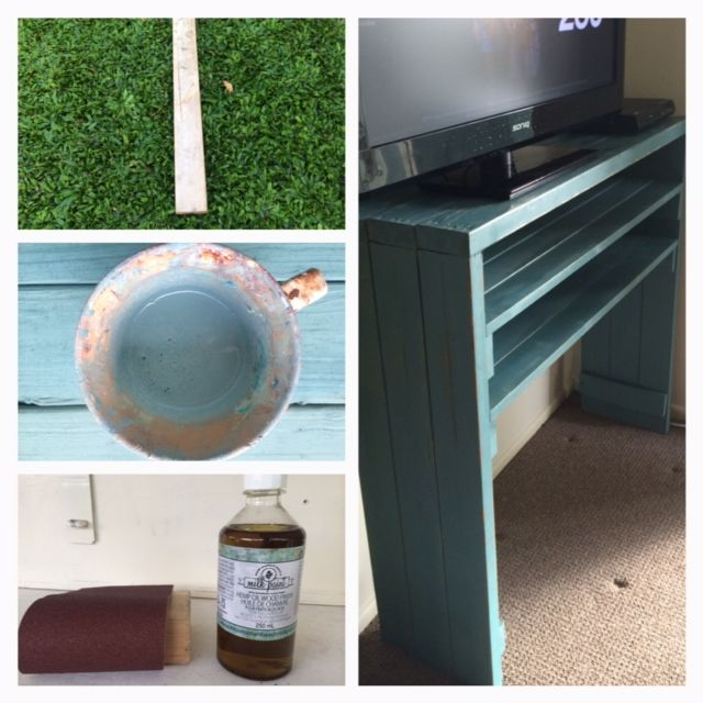 4 pine sleepers and some leftover slats from old bed, 7 scoops of milk paint, hemp oil and a few screws and TADA - new tv cabinet for my bedroom. Cost me nothing!