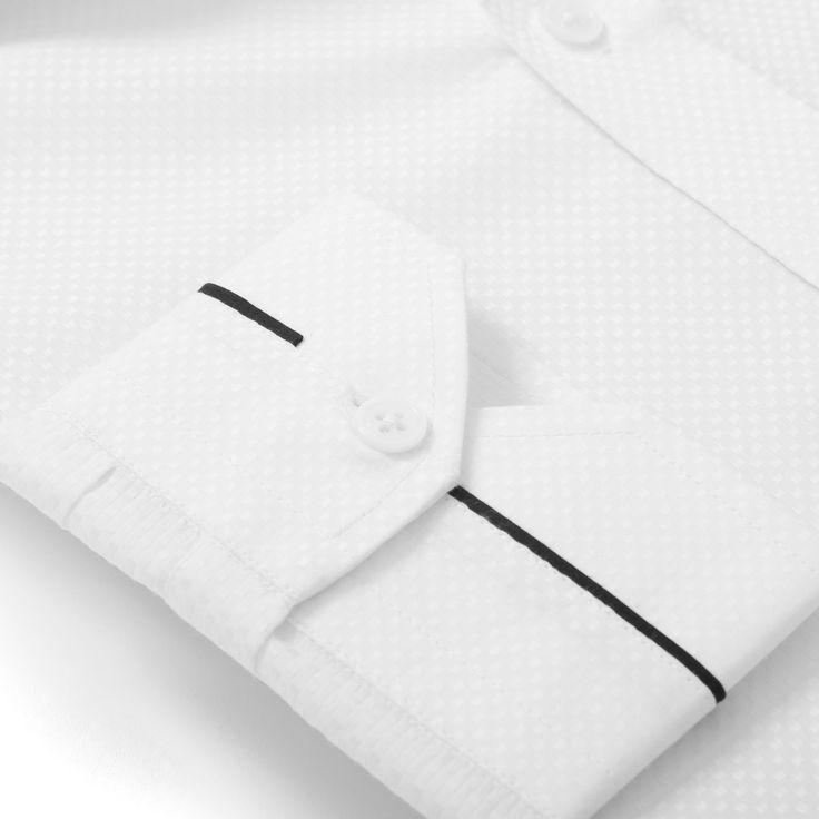 Shirt cuff detail - black stripe