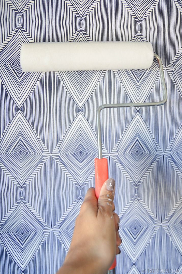DIY Temporary Fabric Wallpaper vintagerevivals.com-4
