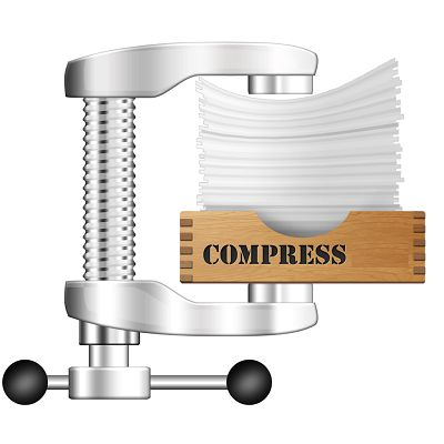 You can compress your files. With various compression software algorithms and rules of cuts, it is possible to greatly reduce the weight of a file....