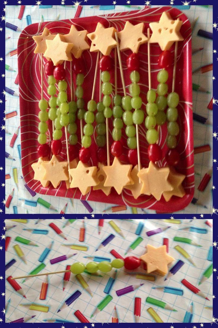 Toverstaf met kaas, tomaatjes en druiven