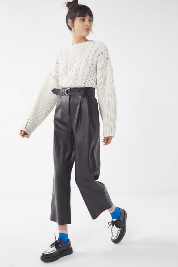 52b53c1851 Slide View  3  UO Evie Faux Leather Trouser Pant