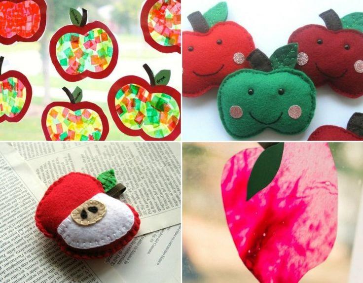 Die besten 25 apfel basteln ideen auf pinterest for Bastelideen kindergarten herbst