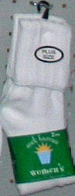 Sock Bureau Sock Lady Plus Crew White 2-count (3-Pack) Sock Bureau. $15.49