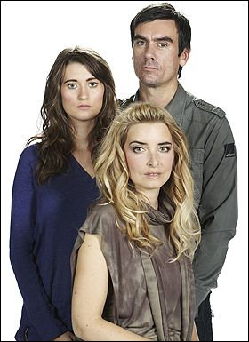 Cain, Charity and Debbie Dingle.