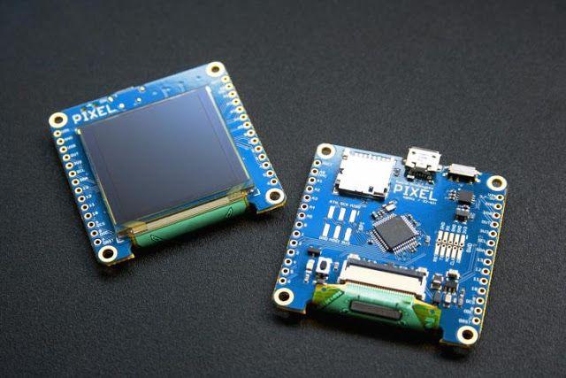 Pixel 2.0 pequeña pantalla inteligente compatible con sistemas Arduino