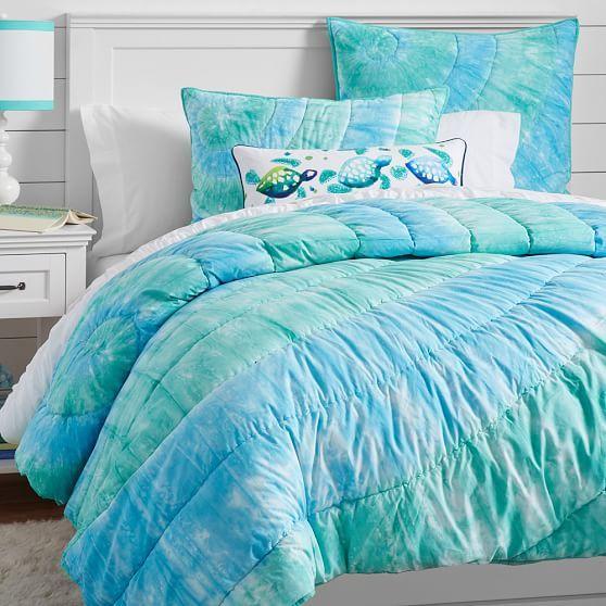 Dunes Tie Dye Quilt + Sham, Cool | PBteen - $24-$135