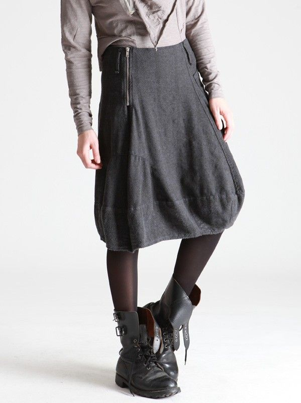 FLANNEL SKIRT WITH BLURRED CHECKERED AND ADJUSTABLE WAIST WITH TWO POSITION ZIPPER