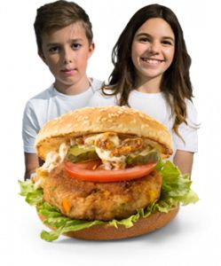fun vis burger - recept