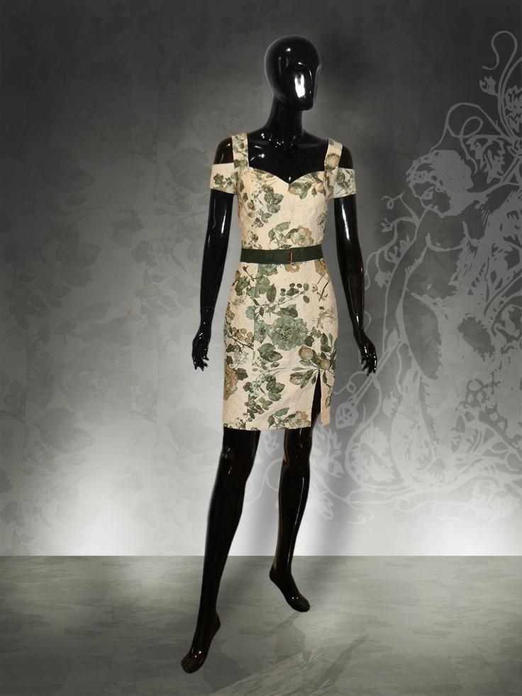 Mediterranean style linen dress