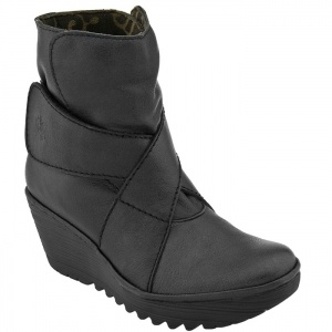 SALE - Womens Fly London Yeddo Wedge Heels Black - $179 ONLY. Was $220.00 - You SAVE $41.00.