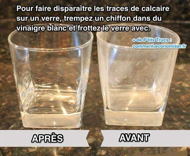 Comment nettoyer verres blanchis