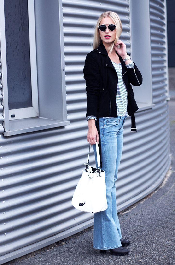 Fashion Attacks flared jeans outfit ootd