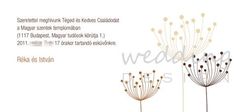 Formabontó, modern esküvői meghívó.