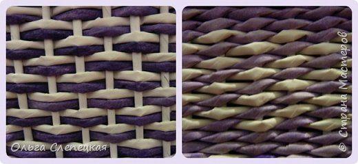 Поделка изделие Плетение СУНДУК для сокровищ    Трубочки бумажные фото 11