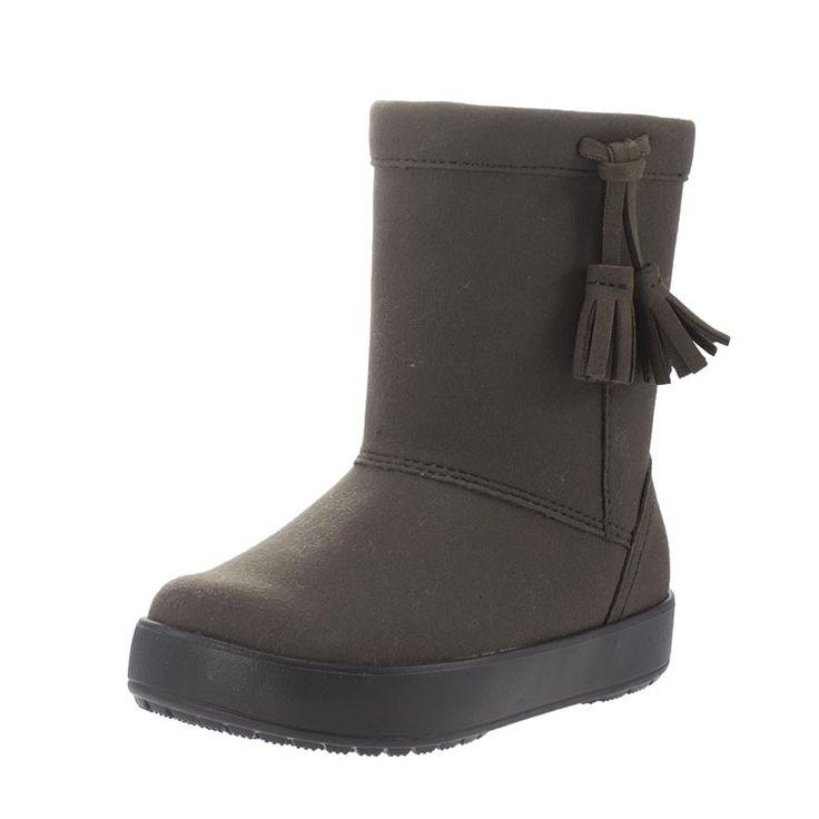Παιδικές μπότες του οίκου Crocs, από αδιάβροχο συνθετικό υλικό και ζεστή επένδυση.