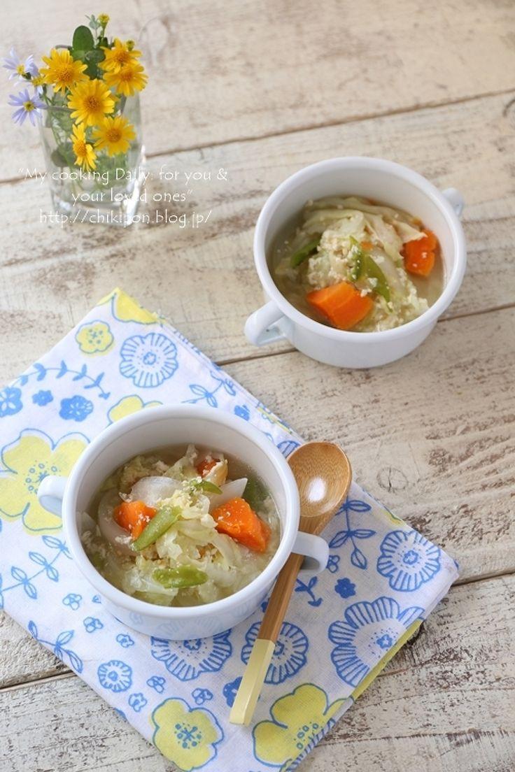 鶏ひき肉と野菜の食べるスープ by 中原美香子 | レシピサイト「Nadia | ナディア」プロの料理を無料で検索