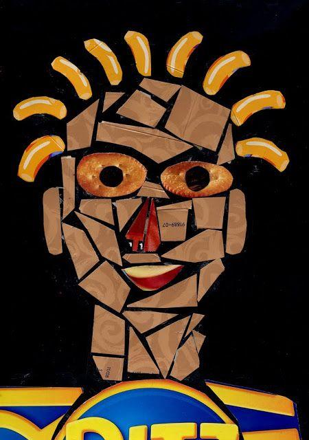 Bri-coco de Lolo: Portrait en mosaïques recylclées