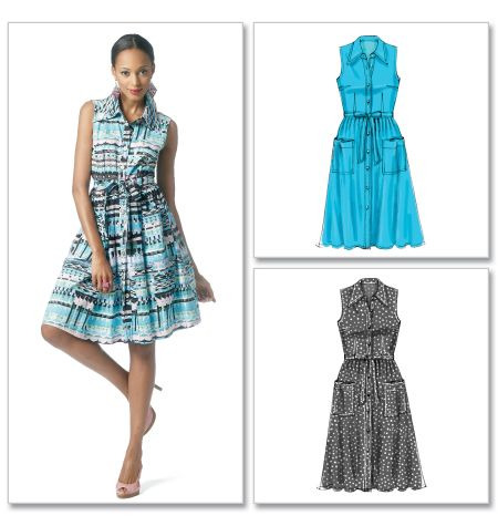 McCalls 6506 - the classic summer shirtdress. And it has multi-cup sizing!