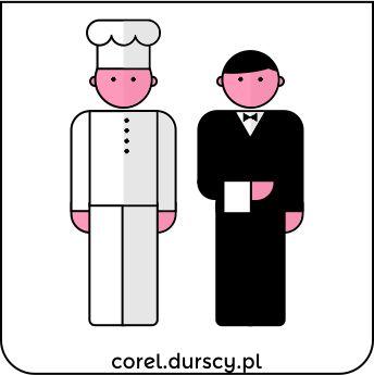 Kucharz vs. Kelner - Do stołu podano #corel_durscy_pl #durskirysuje #corel #coreldraw #vector #vectorart #illustration #draw #art #digitalart #graphics #flatdesign #flatdesign #icon #ludzik #kucharz #kelner #cook #waiter