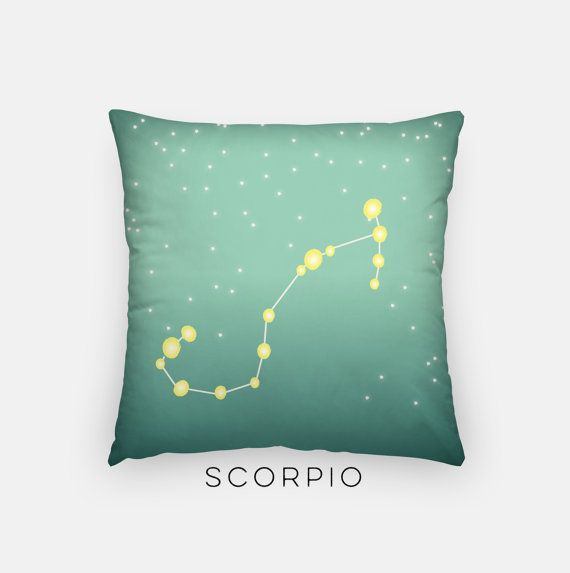 Scorpio October 23 - November 21  Scorpios like to learn about others, and are passionate and very secretive.  So youll never get them to admit that theyve read Fifty Shades of Grey.  Some famous Scorpios include Katy Perry, Leonardo DiCaprio, Bill Gates, and Ryan Gosling.  ________________________________________________________ GIMME ALL THE DETAILS:  —Indoor pillow measures 18x18 —Concealed zipper  —Outer case is machine washable - 80% polyester / 20% cotton fleece  —Made in the USA ...