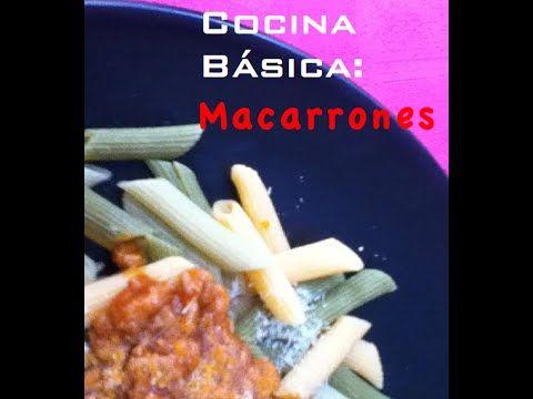 Cocina Básica: Macarrones Boloñesa