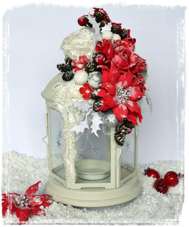 Foamiran flowers, poinsettias. / Kwiaty z foamiranu, poinsecje.  Boże Narodzenie, home decor, Christmas.