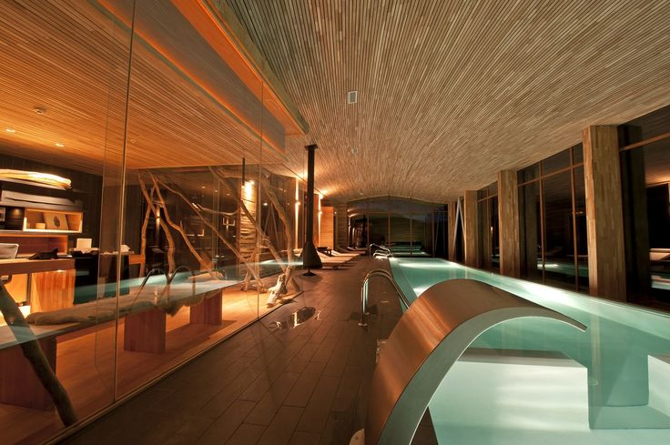 Indoor Pool in Patagonia;;;;Just like the rest of the hotel, the striking indoor swimming pool at Chile's Tierra Patagonia Hotel & Spa is a design triumph.