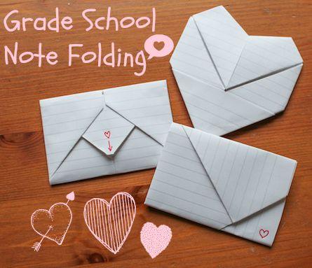 GRADE SCHOOL NOTE FOLDING: A LITTLE TUTORIAL ~ Gramkin Paper Studio
