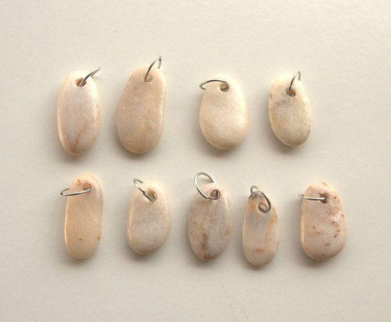 Pebble beadsBeach Stone BeadsBeach FindsDrilled