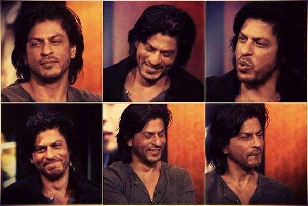 The many moods of SRK