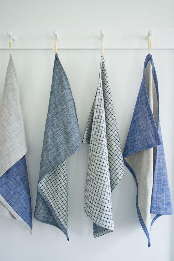How to: Super Simple, Rustic Dish Towels | Man Made DIY | Crafts for Men | Keywords: sewing, DIY, fabric, rustic