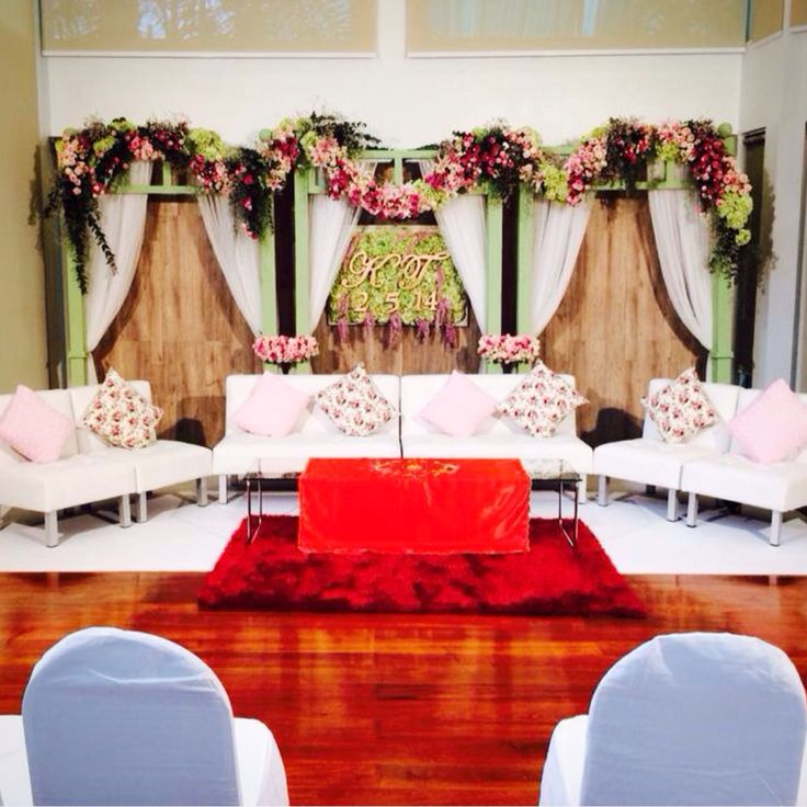 12 best wedding reception backdrop ideas images on pinterest wedding decoration with green and pink theme junglespirit Gallery