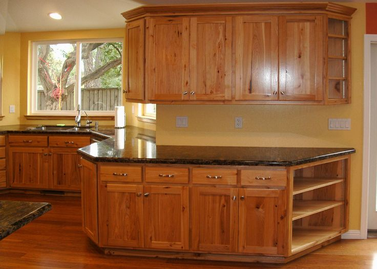65 best images about hickory cabinets and on pinterest for Kitchen remodel ideas black cabinets