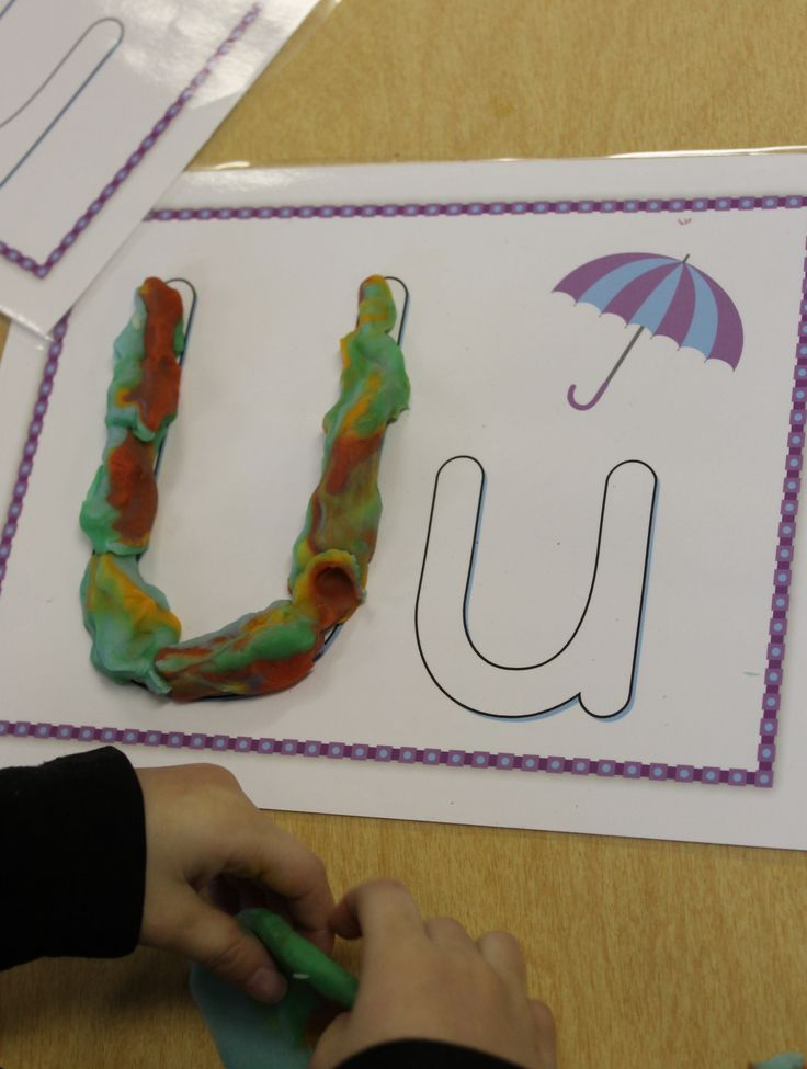 this helps with motor skills to form the play dough into different shapes, it also helps them to learn different letters and how to read them,