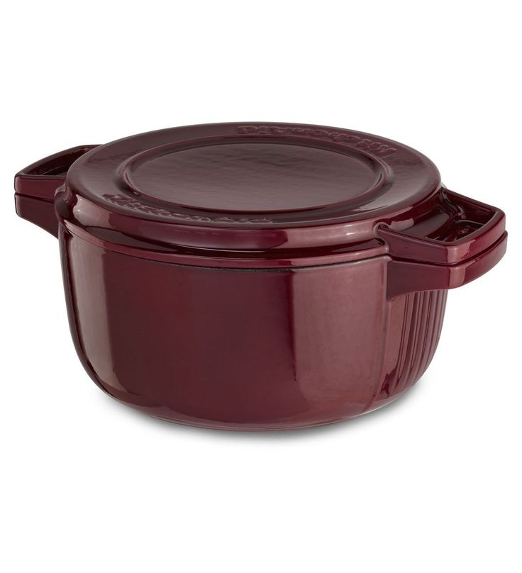 Kitchenaid professional cast iron 6quart casserole