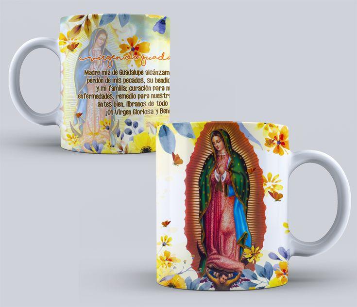 VIRGEN DE GUADALUPE Diseños PSD para Tazas de vírgenes Católicas Pack N 1 #mottaplantillas #sublimacion #tazas