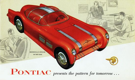 Pontiac Bonneville Special 1954 Pattern Tomorrow - Mad Men Art: The 1891-1970 Vintage Advertisement Art Collection