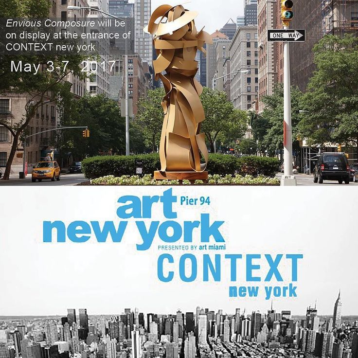Going to NYC this weekend? You have a chance to see Envious Composure at Art Context.  We are installing it at the entrance (pier 94) on Friday. #publicart #artshow #visitingnyc #heitschgallery #contextny