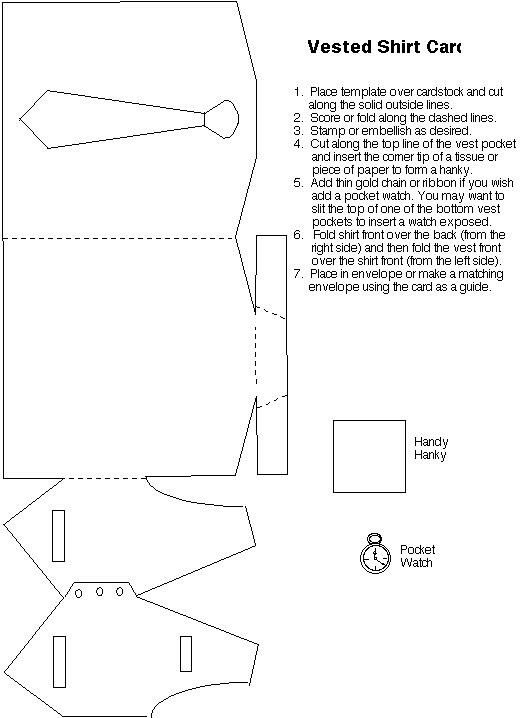 T T shirt and waistcoat template