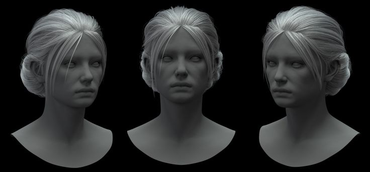 ArtStation - Hair Test, Madina Chionidi