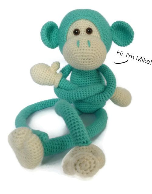 Mike the Monkey Amigurumi Crochet Pattern English by Sugaridoo