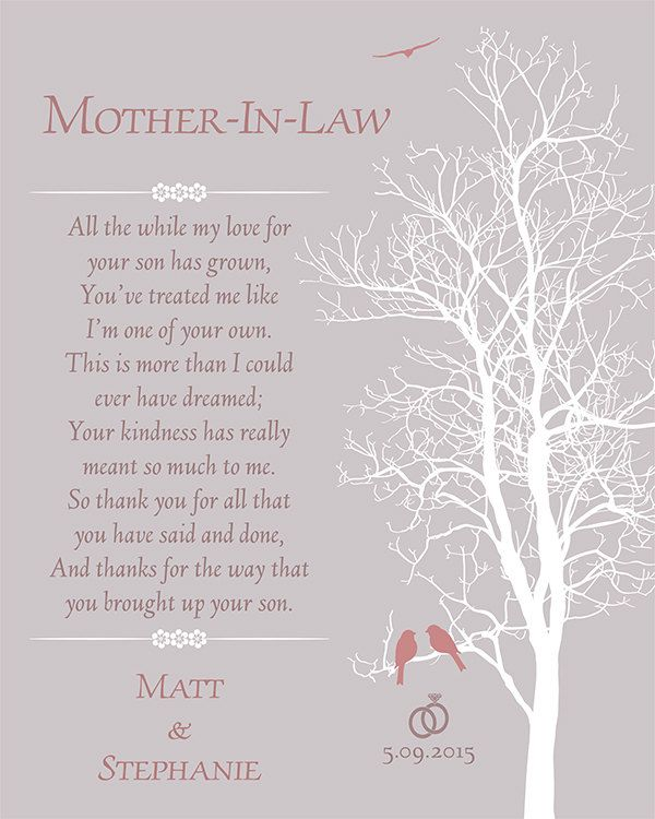 Mother In Law Wedding Gift Mother Of The Groom Poem Grooms Mom Gift Wedding Poems Wedding Day Gifts Wedding Gifts For Parents