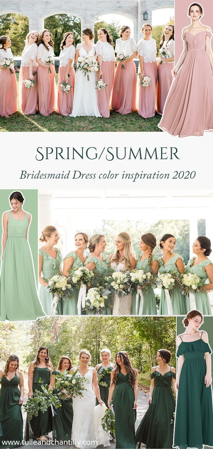 Bridesmaid Dresses And Gift Ideas Tulle Chantilly Bridesmaid Dresses Color Inspiration Wedding Color Trends Summer Bridesmaid Dresses [ 1473 x 698 Pixel ]