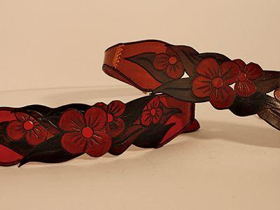 Cinturón flores #Cuero #Leather #cinturon